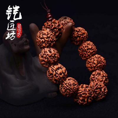 [正品保真] 纯天然金刚星月菩提子手串白玉根手链108佛珠保真 男女项链首饰品