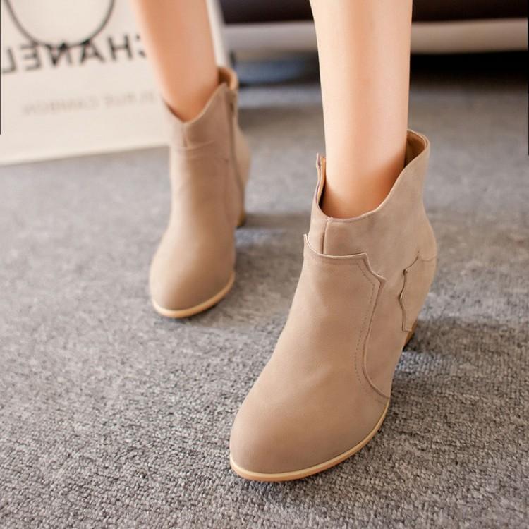 马丁靴包邮2014秋冬韩版新款中跟单靴子 女粗跟防滑短靴