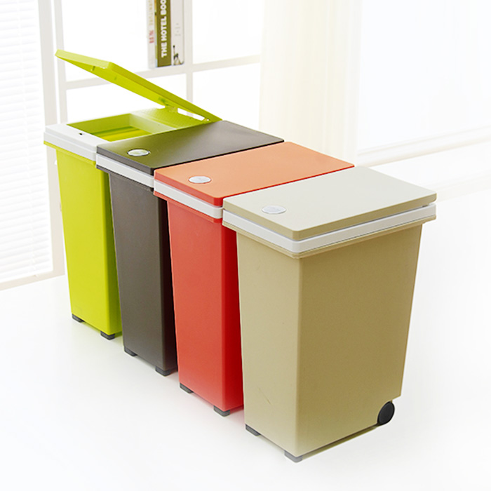 欧式长方形垃圾桶家用窄型按压式客厅厨房卫生间纸篓创意时尚
