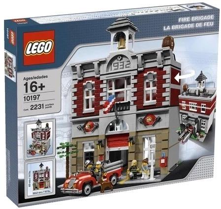 丹麦现货正品 LEGO乐高 10197 City 绝版城市 街景系列 消防局