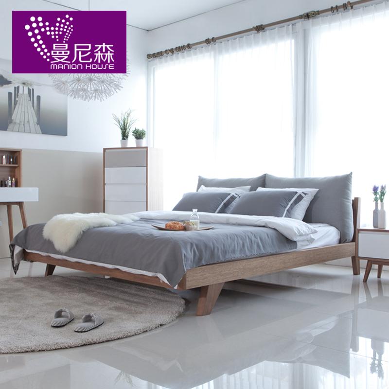 曼尼森家具 北欧式实木床