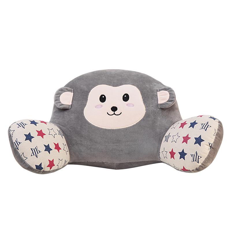靠背毛绒椅子靠垫汽车卡通办公室可爱靠枕加厚腰垫抱枕