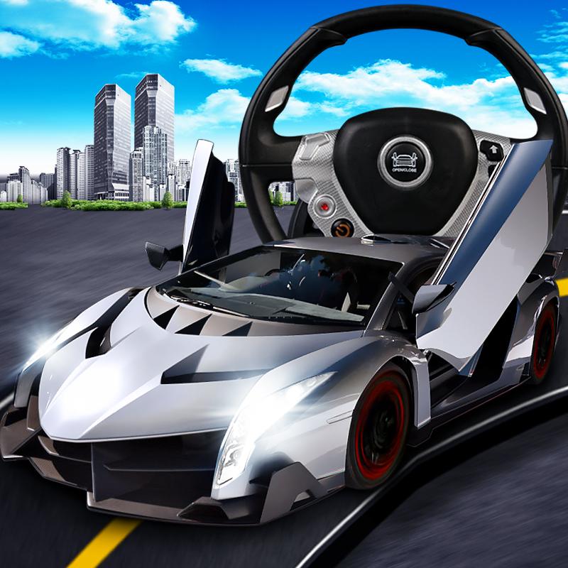 勾勾手 兰博基尼遥控车极速漂移玩具车儿童玩具充电赛车遥控汽车