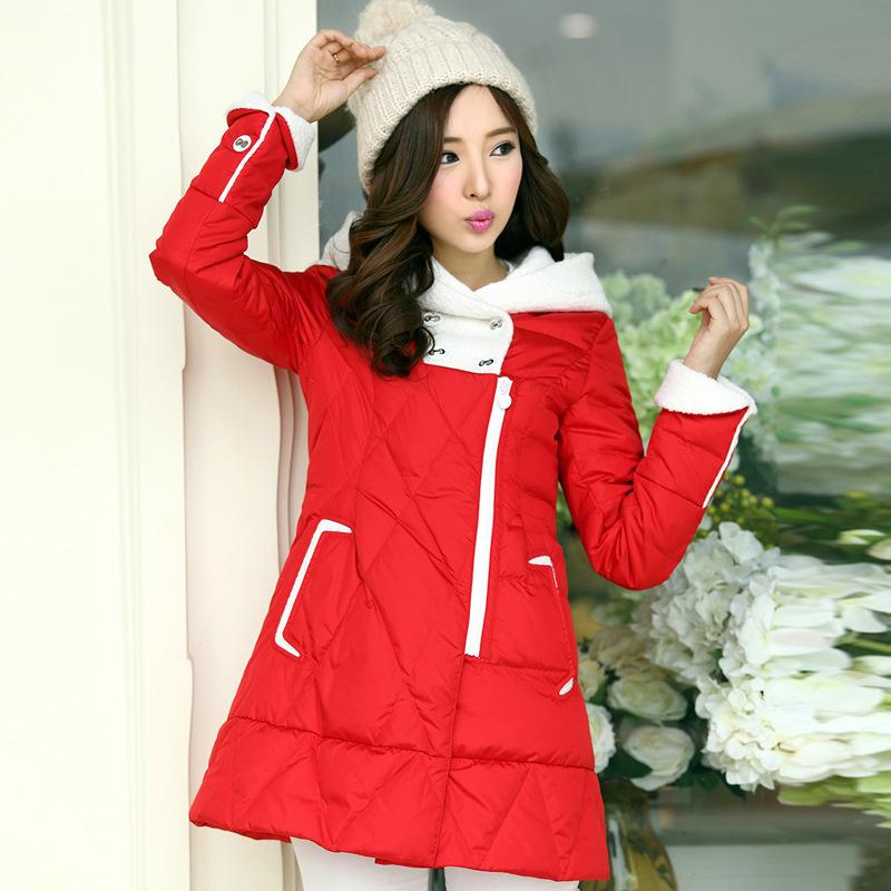 潮韩版时尚修身大码 女士加厚中长款羽绒服女款特价厂家