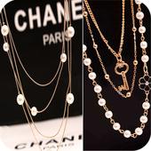 韩国甜美长款毛衣链挂饰钻花朵多层珍珠长项链女钥匙吊坠配饰挂件