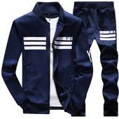 冬季加厚保暖休闲运动卫衣套装冬装男装冬天整套全套一套衣服长裤