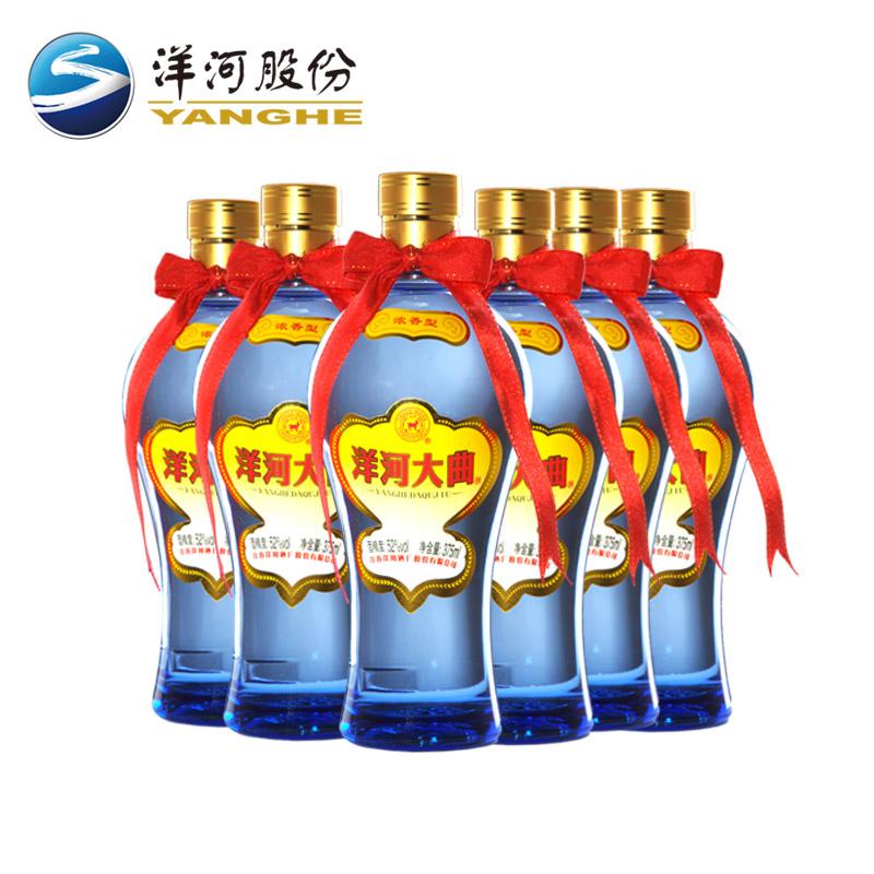 洋河大曲52度375ml 6瓶装 买5赠1价 浓香型白酒