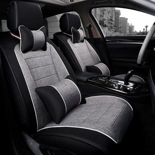 汽车座垫四季通用新款亚麻坐垫专用全包围棉垫子男女士小车座椅垫