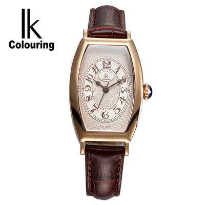 新品推荐IK阿帕琦女韩版普通潮流真皮简约针扣防水50m腕表手表