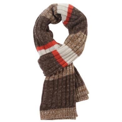 2014秋冬新款男士羊毛围巾 韩版加厚保暖粗针围脖潮男 批发