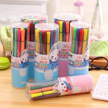 12 36 24色桶装水彩笔 环保可水洗 幼儿园宝宝生日小学生奖品文具