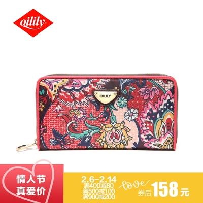 【特价158】oilily潮流时尚钱包女士多卡位零钱包拉链女士长款
