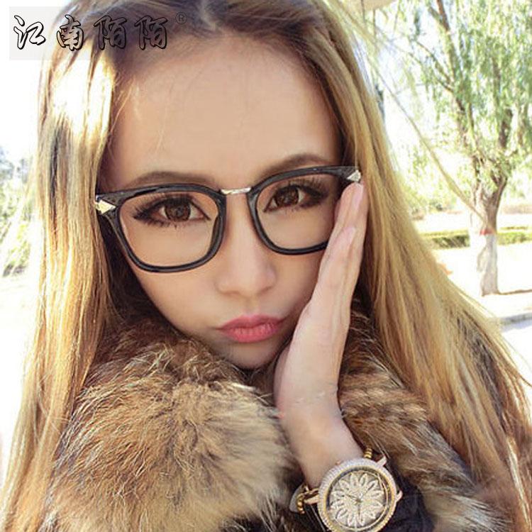 丘比特之箭复古金属箭头大方框防辐射平光眼镜架男女款近视眼镜框