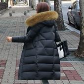 2016冬新款加长加厚超长款过膝修身显瘦大毛领羽绒服女大码欧洲站