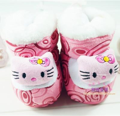 冬季儿童棉鞋宝宝学步鞋包脚袜子软底高筒婴儿加绒加厚保暖棉鞋