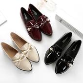 天天特价英伦风春季学院风尖头中跟粗跟女单鞋大码女鞋韩版小皮鞋
