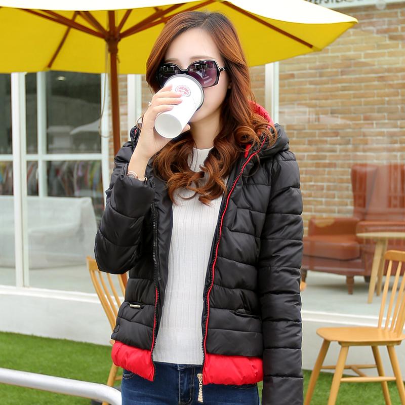 2014棉衣女短款 韩版新品修身显瘦棉服连帽加厚外套女冬装小棉袄