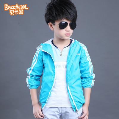 童装男童春装2016新款长袖运动夹克韩版男童连帽外套儿童开衫上衣