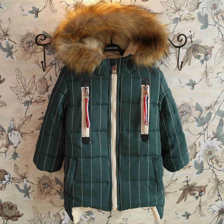 儿童棉服冬季新款韩国版童装男童男宝中小童加厚中长款版外套棉衣