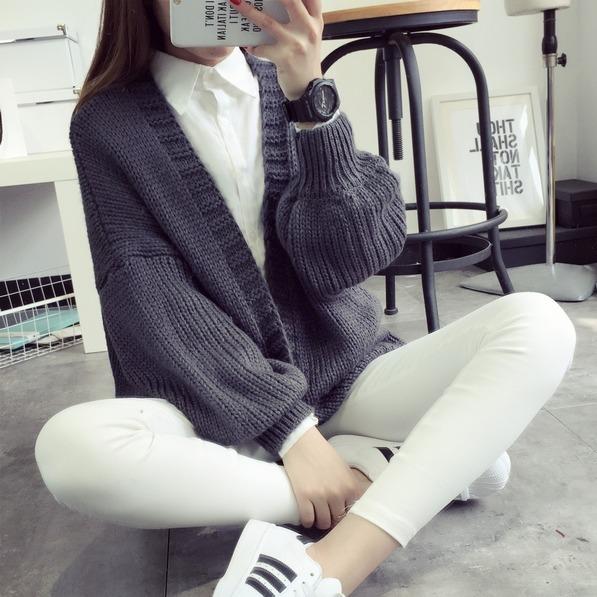 秋冬女装针织衫韩版中长款冬季开衫韩国秋装毛衣冬季外套女潮学生