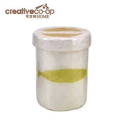 可立特Creative Home美式乡村 Capiz贝壳海鱼图案牙刷杯