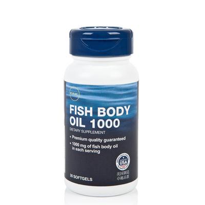 GNC/健安喜 美国原装进口深海鱼油软胶囊 含omega-3 30粒/瓶