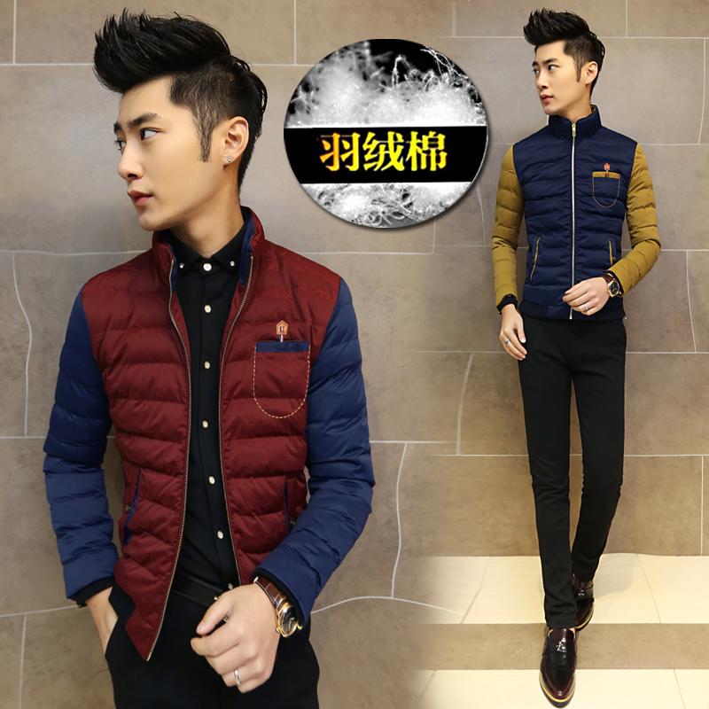 冬装新款男装棉服外套 韩版立领棉衣 青年加厚修身棉袄 潮男上衣