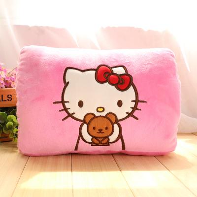 可拆洗USB暖手宝电暖宝hello kitty毛绒抱枕两用可插手卡通热水袋