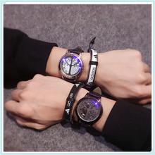 韩版创意约个性智能LED夜光触摸屏手表炫酷男女学生星空情侣表