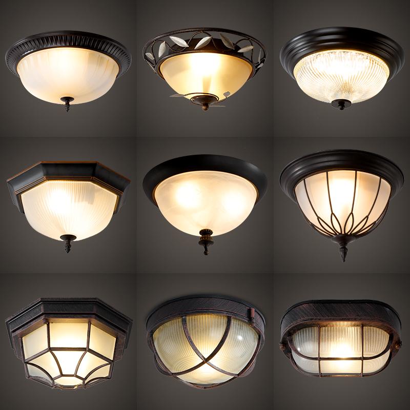 宏悦美式圆形欧式复古led简约厨房灯书房卧室过道