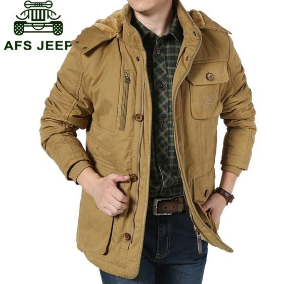 AFS JEEP男棉衣外套冬装新款男士加厚棉袄男装立领保暖大码棉服