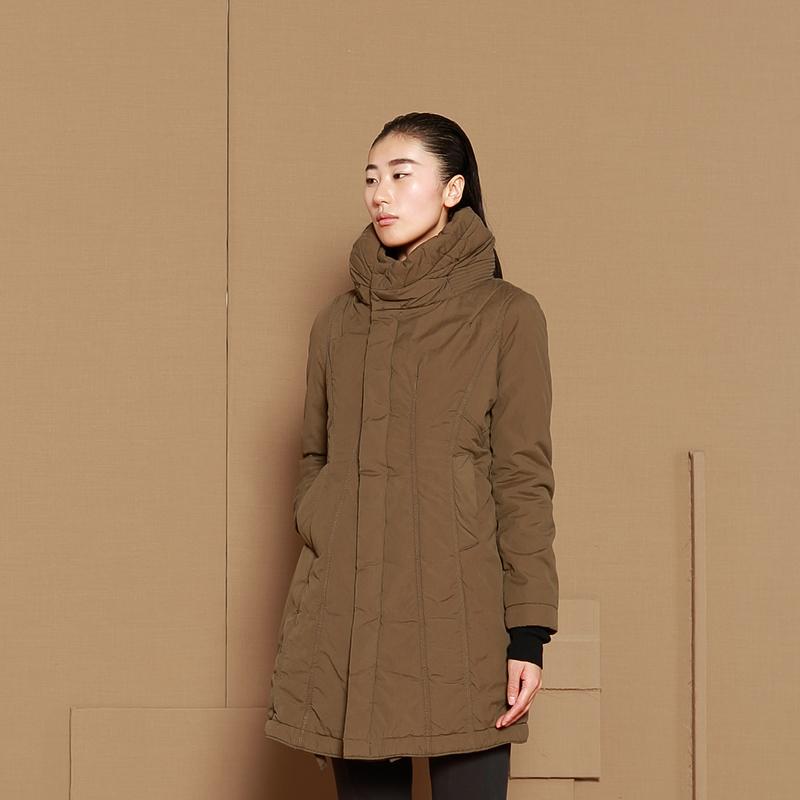 JNBY江南布衣冬女新品收腰线条设计棉衣女5B99061