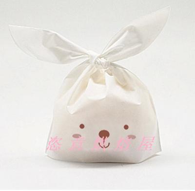 烘焙包装 兔耳朵西点袋/饼干袋 蛋糕袋/泡芙袋 曲奇袋 面包袋/5个