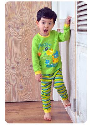 韩国UNI FRIEND进口中厚保暖宝宝冬季睡衣纯棉儿童长袖家居服套装