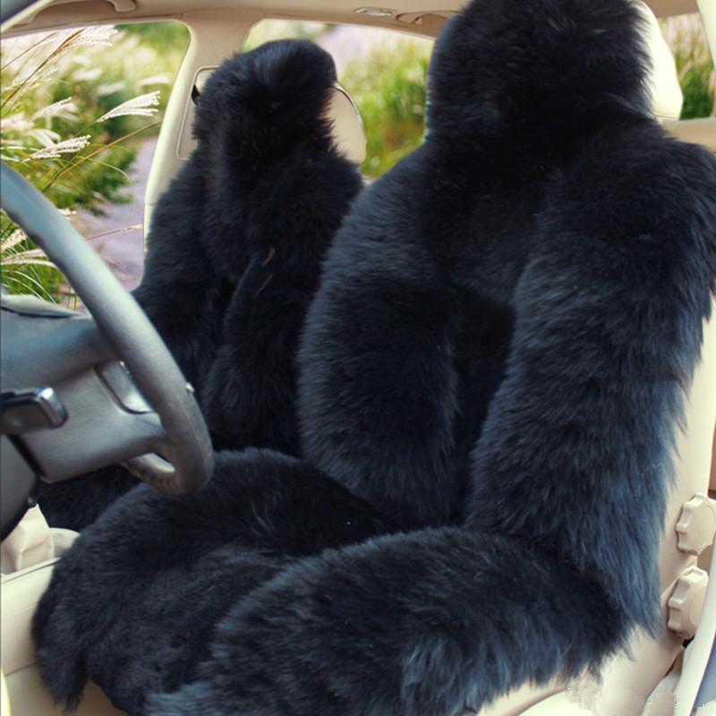 澳洲冬季羊毛汽车坐垫黑色羊毛坐垫毛绒座垫汽冬季毛垫批发