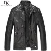 DK新品真皮皮衣男士机车皮夹克植鞣羊皮海宁单皮外套时尚潮流皮衣