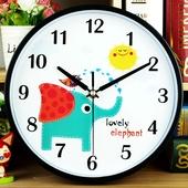 【天天特价】挂钟卡通儿童时钟个性钟表艺术客厅石英钟幼儿园挂表