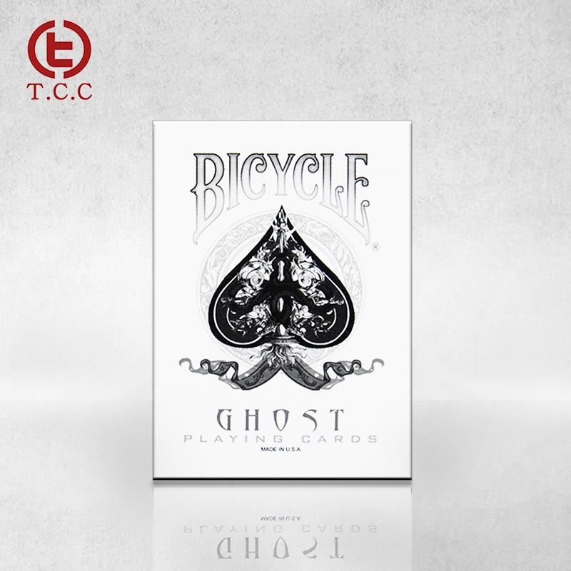 【现货】TCC扑克 Bicycle Ghost Deck E公司白幽灵单车扑克牌