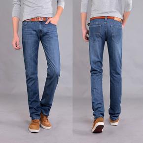 2015新款夏季男装直筒牛仔裤 男士休闲牛仔长裤韩版修身男式裤子