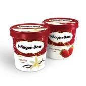 哈根达斯冰淇淋小纸杯脆皮条三明治品脱 组合满396元包邮同城配送