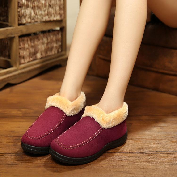 冬款 正品老北京布鞋棉鞋中老年保暖鞋男女款棉鞋妈妈鞋休闲短靴