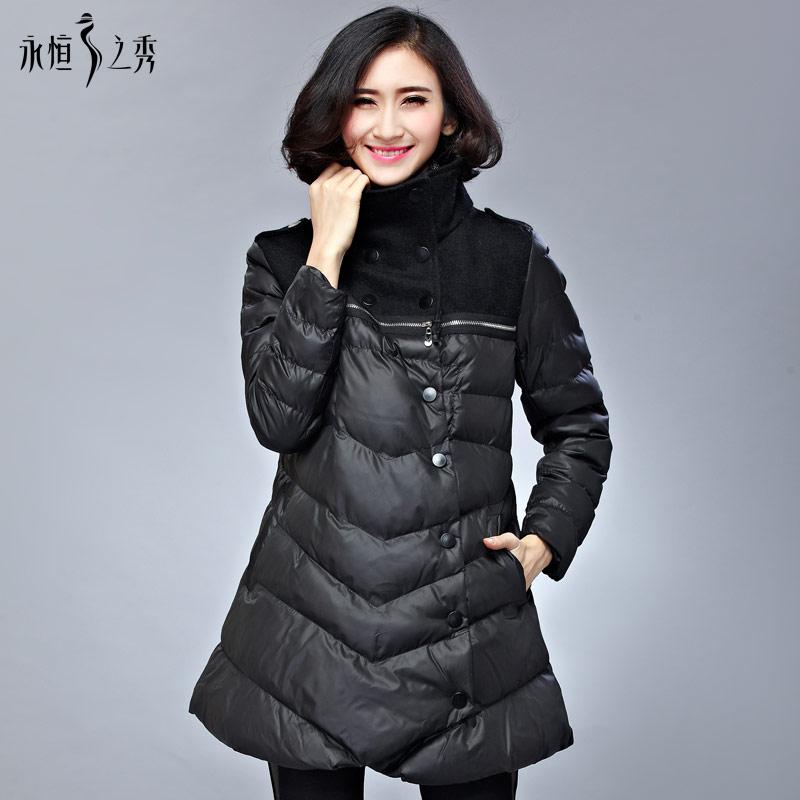 年货节永恒之秀大码女装胖mm冬装新款欧美显瘦棉衣修身外套棉服