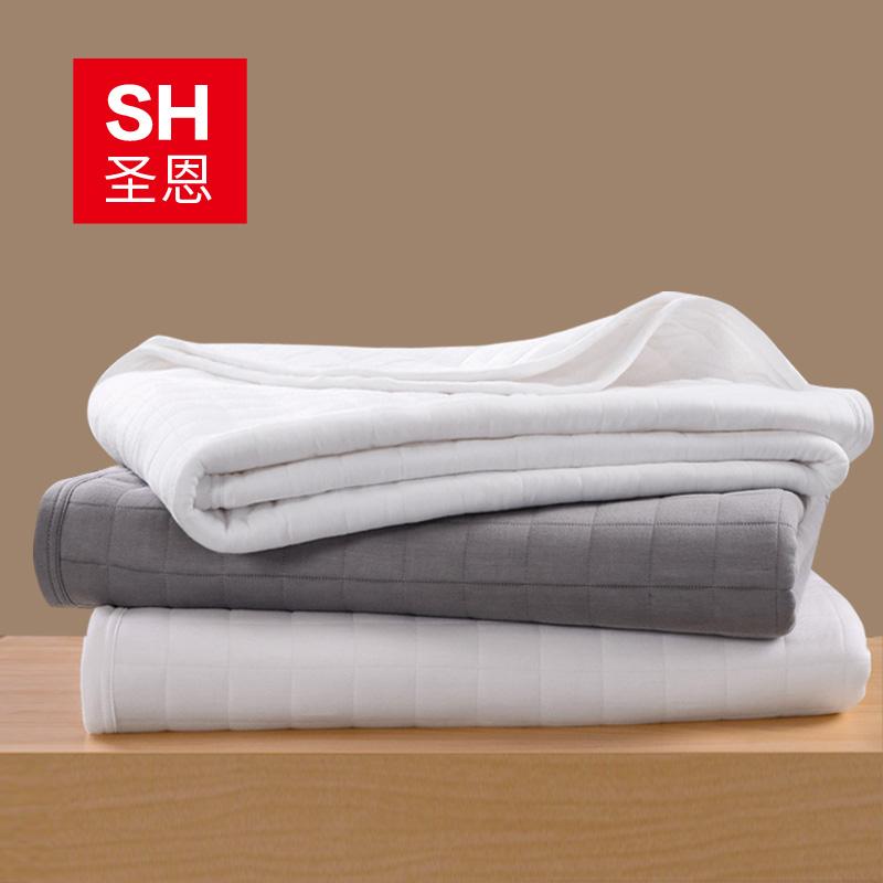 彩织棉可水洗 空调双人被夏凉被单 纤维起居竹浆 圣恩