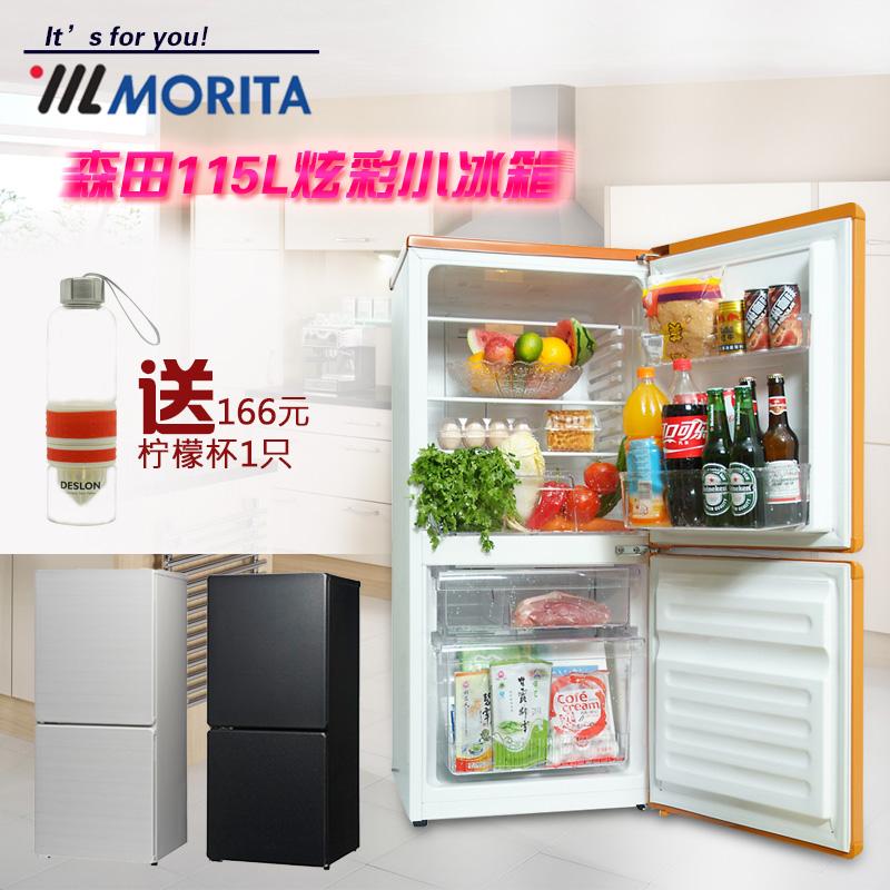 日本森田无霜电冰箱家用双门冷藏带冷冻小型冰箱MORITA BCD-115WA