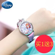 迪士尼儿童手表女孩防水米奇可爱小学生迪斯尼卡通石英表女童表