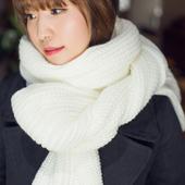 毛线围巾男女通用韩版冬季长款加厚学生情侣保暖针织围脖百搭韩风