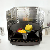 厨房铝箔耐高温隔热挡油防油板 炒菜防油烟防溅汤 防油板 隔油烟