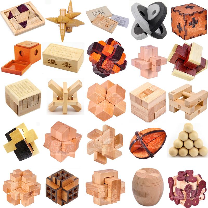智力玩具拼装孔明锁鲁班锁