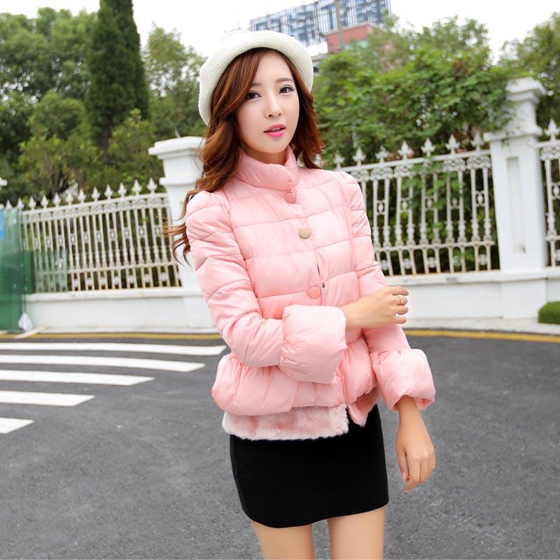 2014街头甜美风冬款韩版轻薄保暖短款时尚棉服女6027