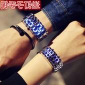 韩版简约创意智能led夜光发光潮男表个性女学生exo手链情侣手表